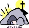 Vector Clip Art image  of a tomb of Christ