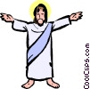 Vector Clipart graphic  of a Jesus
