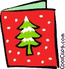 Christmas card Vector Clipart illustration