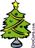 Vector Clipart illustration  of a Christmas Trees