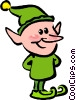 Vector Clip Art graphic  of a elf