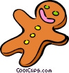Vector Clipart graphic  of a gingerbread cookie