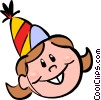 Vector Clip Art graphic  of a birthday girl