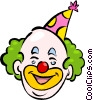 Vector Clip Art image  of a Clowns