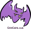 Vector Clipart picture  of a Bats