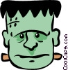 Vector Clip Art image  of a Movie Monsters