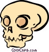 Vector Clip Art picture  of a Skulls