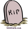 tombstone Vector Clipart illustration