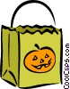 Vector Clipart image  of a trick or treat bag