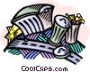Vector Clipart graphic  of a garbage containers