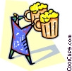 Vector Clip Art image  of a beer mugs