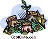 Vector Clipart graphic  of a tree stumps
