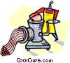 Vector Clip Art image  of a meat grinder