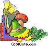 Vector Clip Art image  of a St. Patrick's day