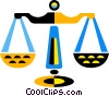 Vector Clip Art picture  of a scale