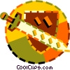 sword and shield Vector Clipart illustration