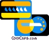 Vector Clip Art graphic  of a credit card