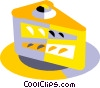 piece of pie or cake Vector Clipart illustration