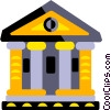 Vector Clip Art image  of a bank