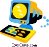 Vector Clipart image  of a computer