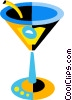 Vector Clipart graphic  of a martini