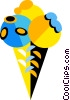 Vector Clipart image  of a ice cream cone