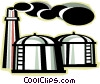 refinery Vector Clipart illustration