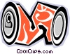 Vector Clipart illustration  of a crushed pop can