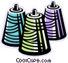Vector Clip Art graphic  of a bobbins