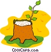 Vector Clip Art image  of a tree stump