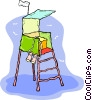 lifeguard tower Vector Clipart image
