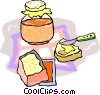 Vector Clipart image  of a Toast and jam