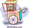 popcorn cart Vector Clipart illustration