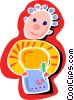 student at school Vector Clip Art graphic