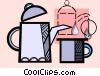 coffee pot and cup Vector Clip Art image