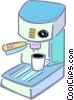 cappuccino machine Vector Clipart picture