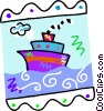 cruise ship Vector Clipart illustration
