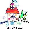 Church Vector Clipart image