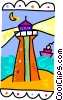 Vector Clipart graphic  of a lighthouse