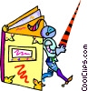 Vector Clipart picture  of a Book with knight