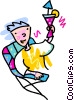 Vector Clipart illustration  of a man proposing a toast with a