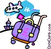 Baggage at the airport Vector Clipart picture
