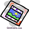 crooked picture Vector Clipart illustration