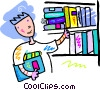 Vector Clipart picture  of a Public Library