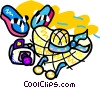 Vector Clipart picture  of a beach attire