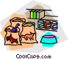 Vector Clipart picture  of a pet supplies