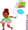 Children Playing Vector Clip Art image