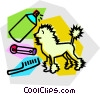 Animal Grooming Vector Clipart illustration