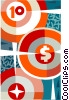 target with dollar sign Vector Clipart graphic