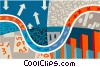 Vector Clip Art image  of a highway